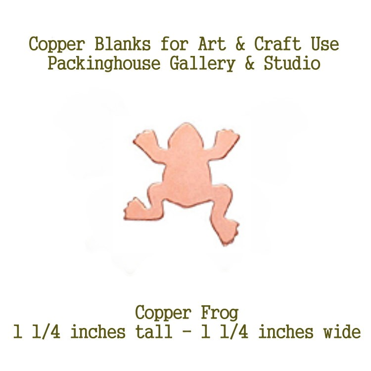 Frog, Copper Blank Shape cut outs made of copper for metal working, enameling and jewerly making, general crafting for metalsmiths